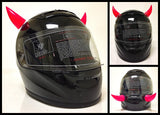 Rubber Motorcycle Helmet Horn Set - 6 Color Options