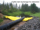 Coffer dam & drainage for redirection