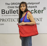 NIJ IIIA Bulletproof Leather Laptop Tote