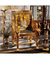 Throne Chair of Egyptian Pharaoh Tutankhamun