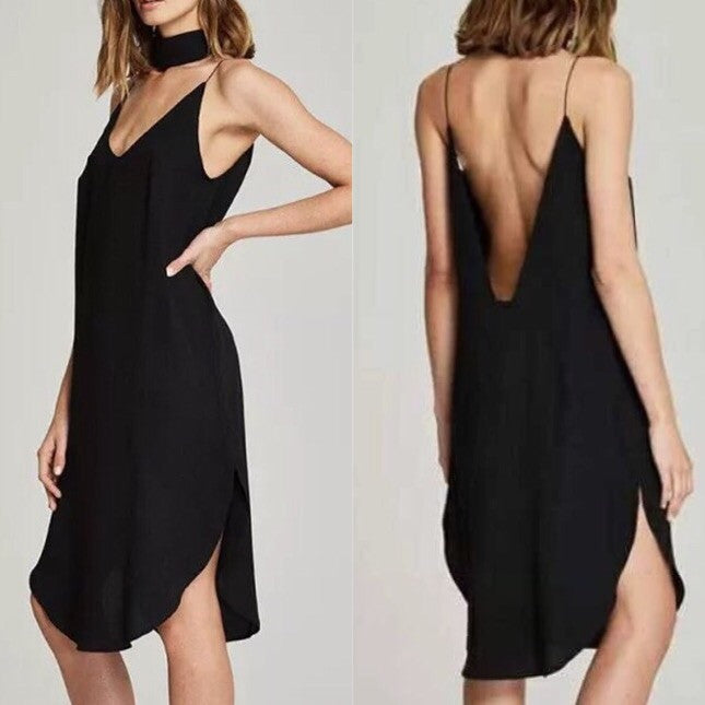 Dream to Fly Choker Sexy Back Dress