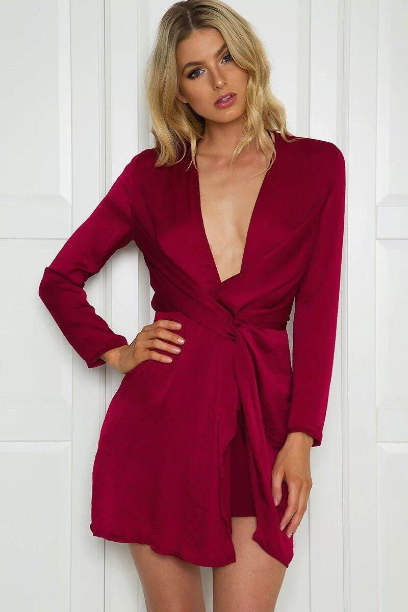 Kylie Vibe Blouse V Neck Dress