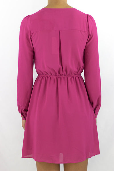 Fuchsia Dress - HartLove 718 - 2