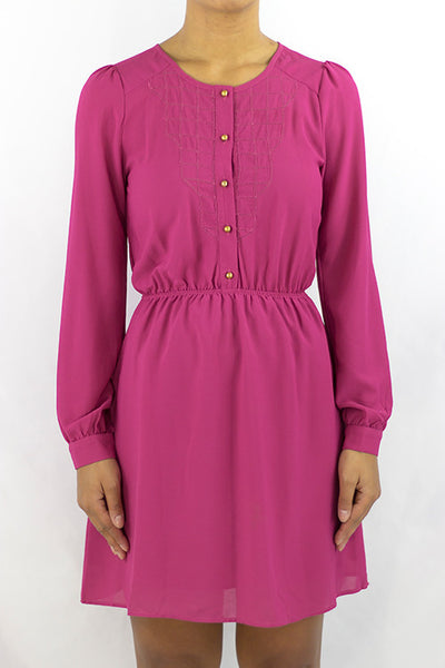Fuchsia Dress - HartLove 718 - 1