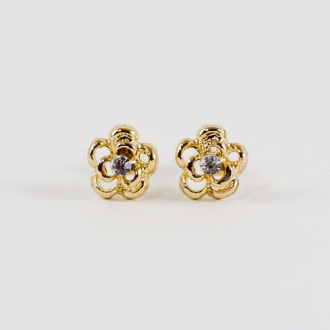 Flower Petal Stud Earrings