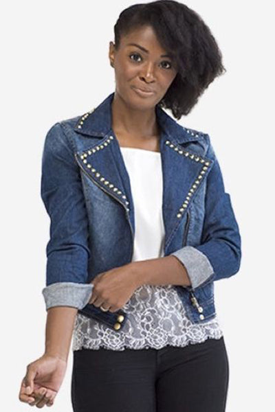 Deana Studded Denim Jacket