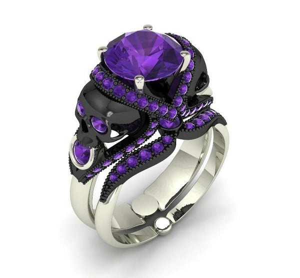 Skull Engagement Ring - Temple of The Ancient Dragon