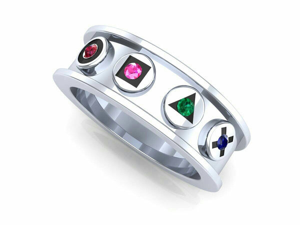 Gamer Ring Nintendo Play Station Wedding Band Temple of The