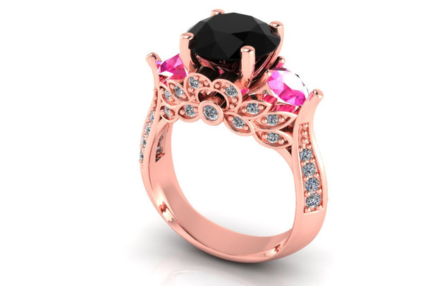 Rose Gold Engagement Ring - Temple of The Ancient Dragon