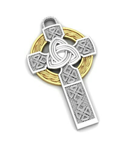High Quality Celtic Cross  Solid Silver - Temple of The Ancient Dragon