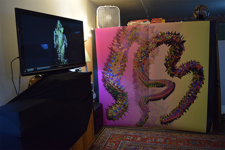 East Bay Open Studios, Suspended Motion Series IV: Scroll I & SMS III interactive video, June 2015