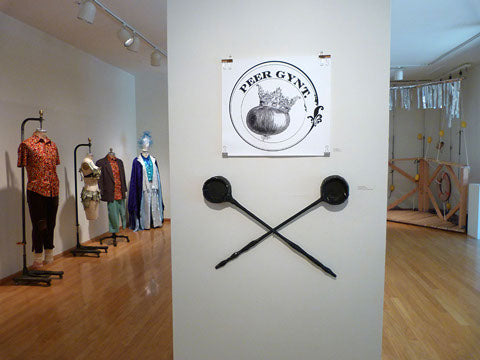 photo of Peer Gynt logo poster installed in Eloise Pickard Smith Gallery, UCSC, April 2013 (photo by Drew Detweiler)