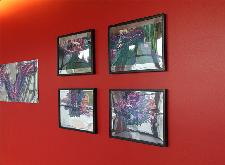 Suspended Motion Series II: I-IV prints installed at UCSC, May 2014