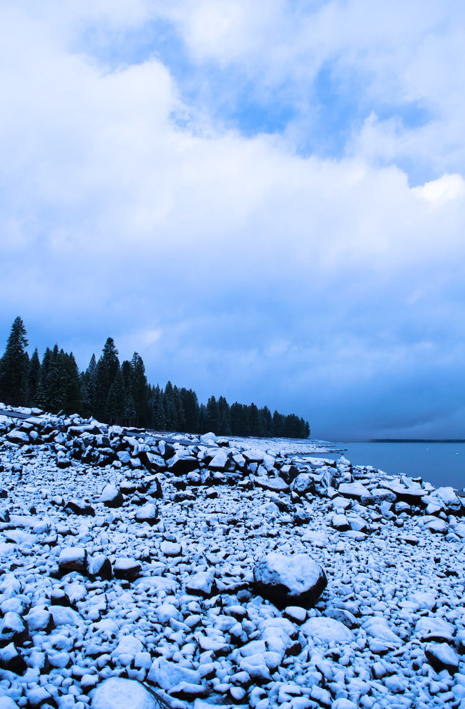 "Snow Sky, Lake Almanor, 2015 - 36x24"" print"