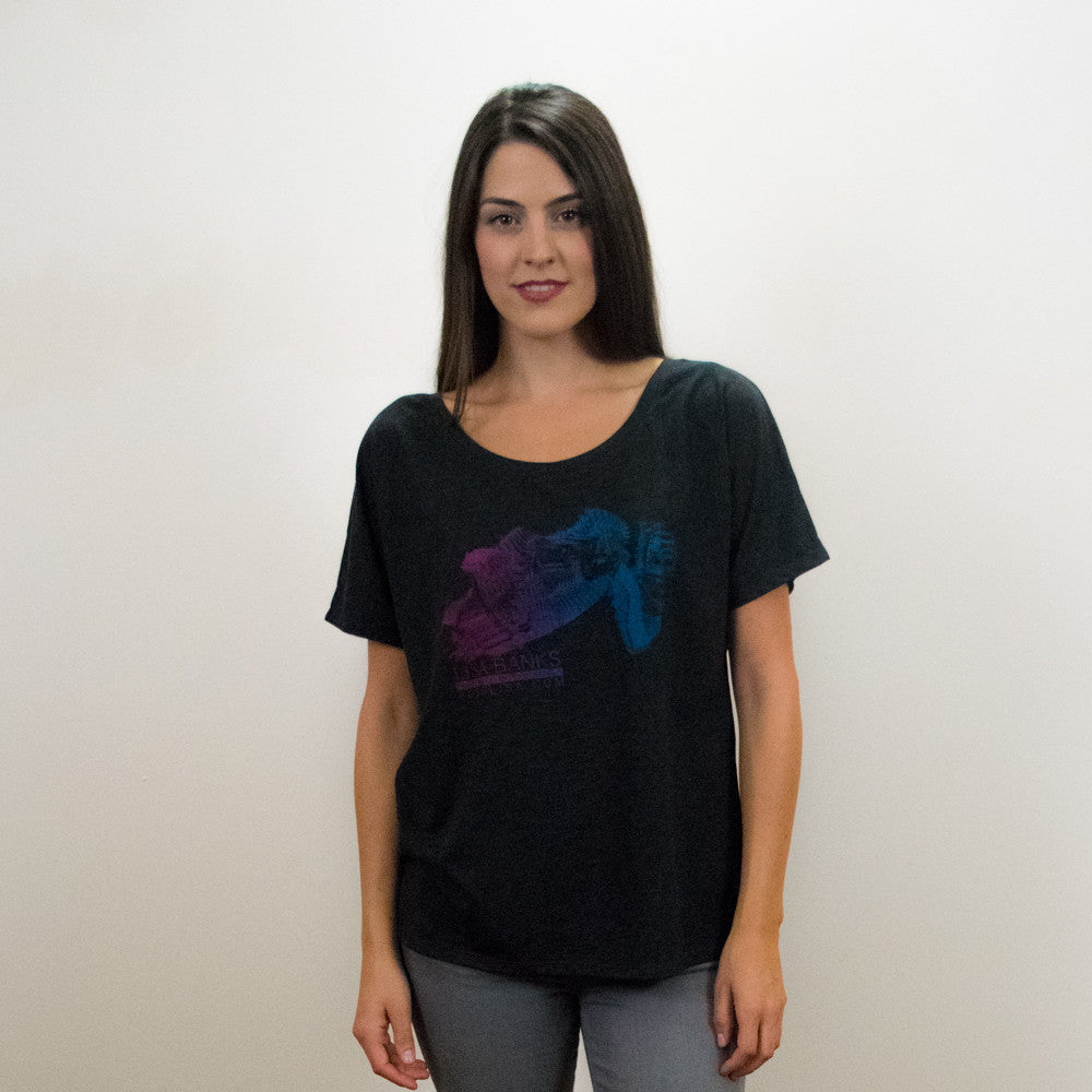 Suspended Motion Series Women's Tee, Charcoal-Black Triblend
