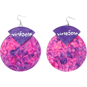 Graffiti Inspired, Hand-Painted Earrings