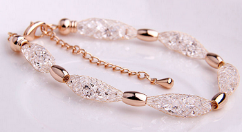 18kgp Water Drop Crystal Bracelet