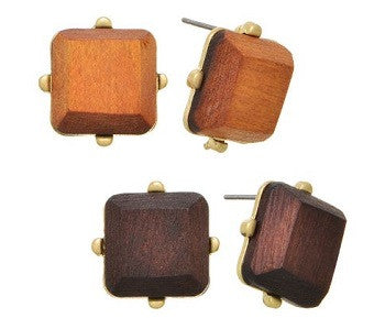 Wood Earings - two pairs