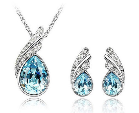 Swarovski Water Drop Necklace or 3pc Set