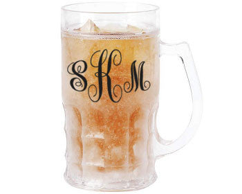Monogram 16.9oz Mug with Freezing Gel