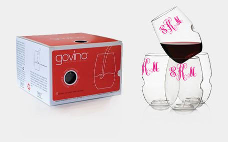 "Monogram ""Go Anywhere"" Wine Glass By Govino"