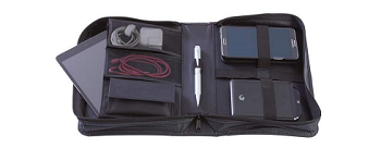 Genuine Leather Travel Electronics Case