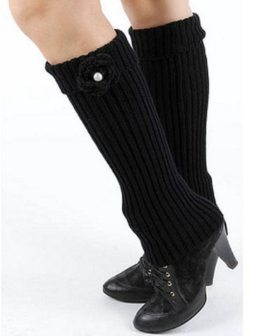 Foldover Top Knitted Leg Warmer