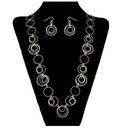 Hoop Necklace and Earring Set