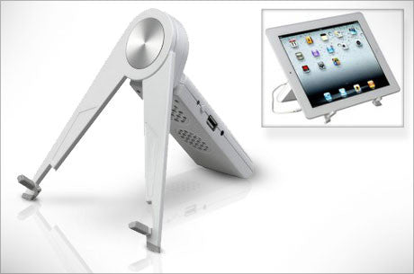 Tablet Easel Stand with Speaker