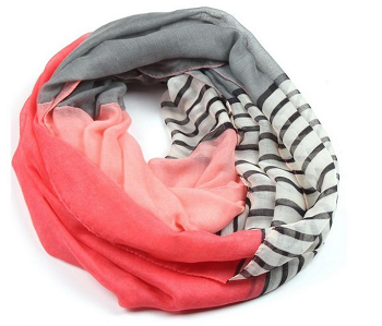 Striped and Solid Scarf