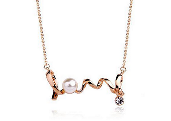 Italina Rose Gold Necklace