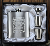 Jack Daniels Stainless Steel Flask set