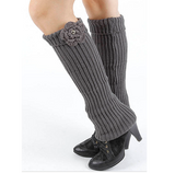 Fold over Top Knitted Leg Warmer