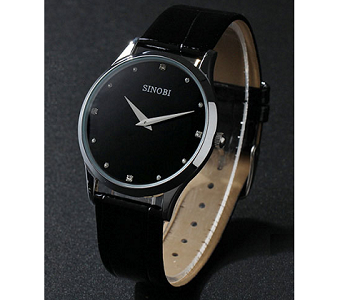 Mens Ultra Thin Stainless Steel Sport Watch