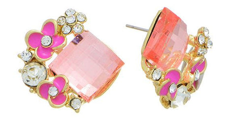 Gold Tone flower earings
