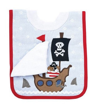 Pirate Pullover Bib with Washcloth