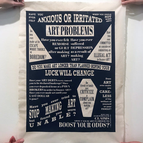 Elvis Richardson 'Art Problems?' Print