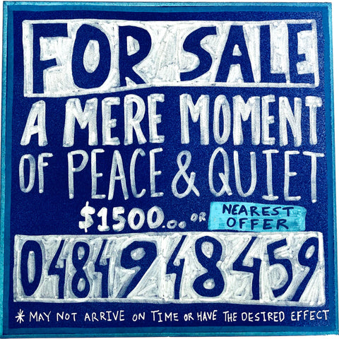 Lucas Grogan 'For Sale: A Mere Moment of Peace and Quiet'