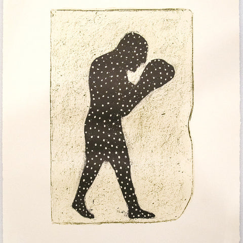 Richard Lewer 'Shadow Boxer' lithograph