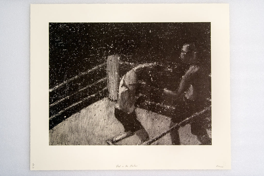 Richard Lewer 'Vlad in the Masters' etching