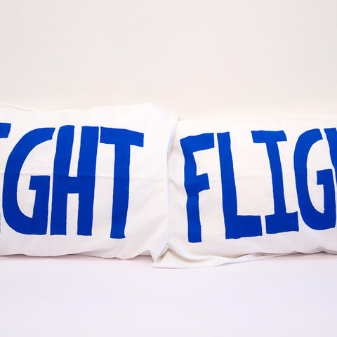 Lucas Grogan 'FIGHT/FLIGHT' pillowcase set