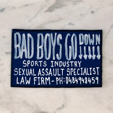 Lucas Grogan 'Bad Boys Go Down' business card