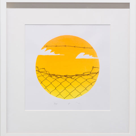 James Dodd 'Fence Sunset' print, signed