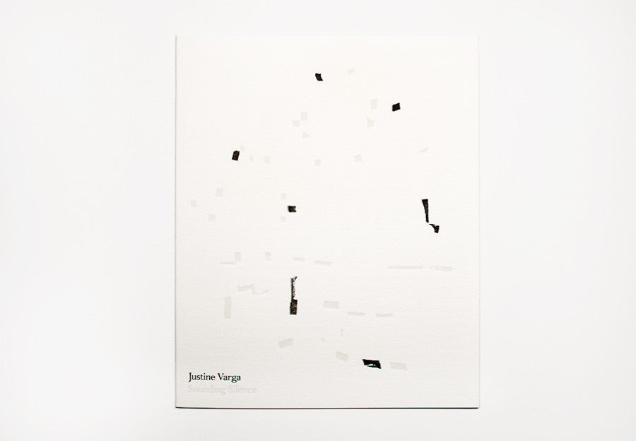 Justine Varga 'Sounding Silence' exhibition catalogue