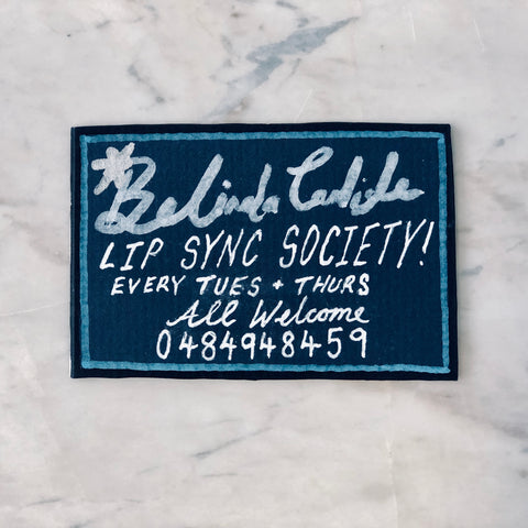 Lucas Grogan 'Belinda Carlisle Lip-Sync Society' business card