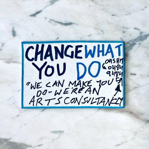 Lucas Grogan 'Change What You Do' business card