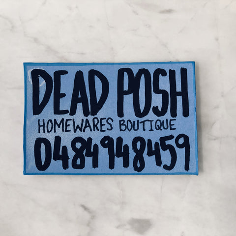 Lucas Grogan 'Dead Posh' business card