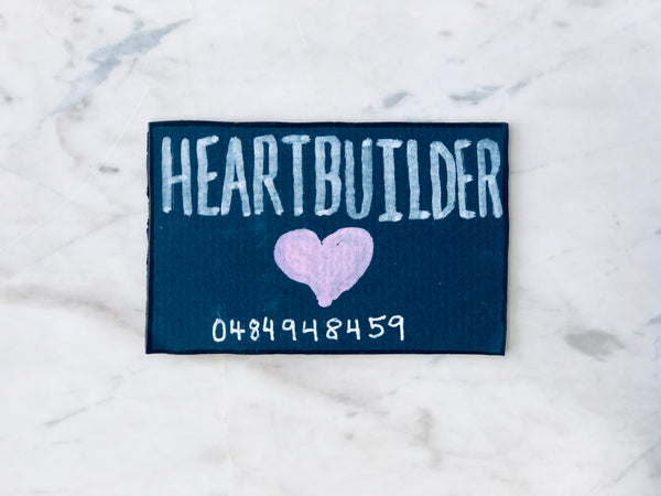 Lucas Grogan 'Heartbuilder' business card