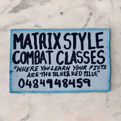 Lucas Grogan 'Matrix-Style Combat Classes' business card