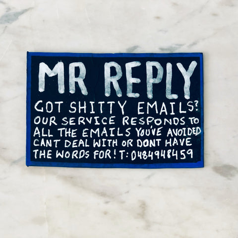 Lucas Grogan 'Mr Reply' business card